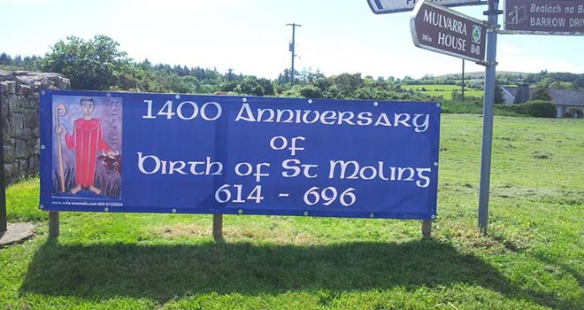 1400th anniversary of the birth of St Moling